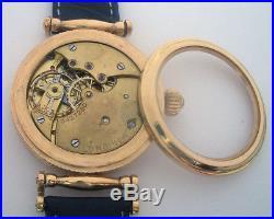 Rare Swiss ANTIQUE Wristwatch LONGINES Gilt Case