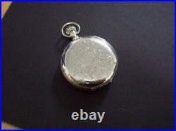 Rare US Watch Co of Waltham 16s Domed Model 1 U. S. W. Co Case Pocket Watch