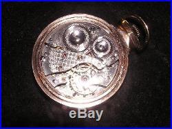 Rare Waltham Crescent Street Wind Indicator 16 Size 21 Jewel L. S. Nawco Case
