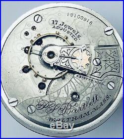 Rare Waltham P. S. Bartlett -illinois-hercules 18-size Pocket Watch-case Engraved