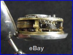 Repousse Square Pillar Verge Pair Case Pocket Watch'w Johnson, London' 1762