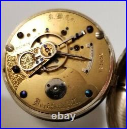 Rockford 137 years old pocket watch 18S. 15 jewel adjusted model 3 nickel case