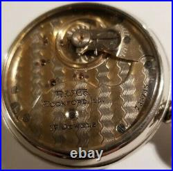 Rockford 18 Size Two-Tone 17 jewel adj. Fancy dia (1908) grade 938 display case