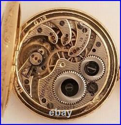 Rockford Rare 0S. 15J. Mint fancy dial (1913) 14K. Multi-color diamond G. F. Case