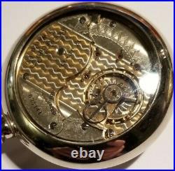 Rockford Rare 18S 17 jewels adj two-tone movement (1904) glass back display case
