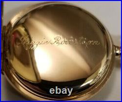 Rockford Scarce 0S. 15J. Mint fancy dial grade 160 (1905) 14K. G. F. Hunter case