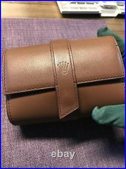 Rolex 2 watches Leather travel Pocket Pouch. Case. 2020 New StyleWith Gift Box
