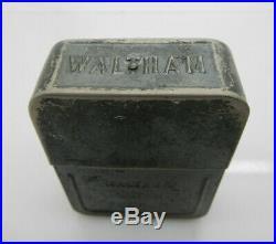 SCARCE Waltham 1883 17J 18s Salesman Case Pocket Watch withTin Box-CLEAN & WORKS