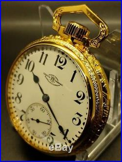 STUNNING! BALL 999P 21 jEWELS! Mens Pocket Watch in Mint Display Case