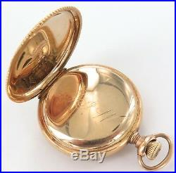 SUPER RARE ONLY 7,000 MADE 1907 ELGIN 0S 11J POCKET WATCH With 14K GOLD CASE