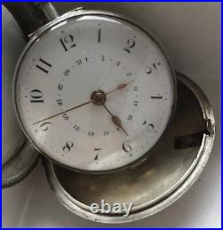 Samuel Moginie Pimlico, English Verge With Calendar sterling pair case 57mm