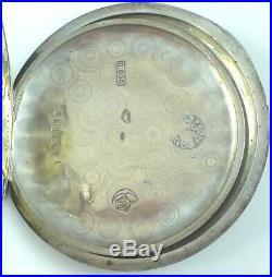 Scarce Vintage Zenith Pocket Watch Niello Silver Case