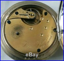 Seth Thomas 7 jewels key wind model 4 grade 11 runs great (1891) silveroid case