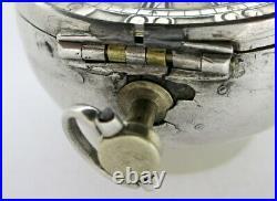 Silver pair cased verge pocket watch, mock pendulum London, c1700
