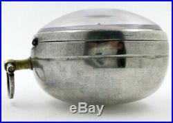 Silver pair cases, verge escapement London, c1710