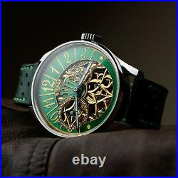 Skeleton Exclusive Luxury Watch for Mens Pocket Watch in Art Deco Case and Dial