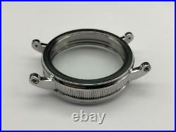 Stainless Steel Case 48mm NEW Conversion Antique Pocket Watch Movement