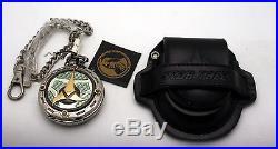Star Trek Pocket Watch Bird of Prey Franklin Mint With Link Chain & Case NEW