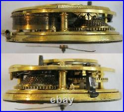 Sterling silver pair case verge fusee Pocket Watch Franchis Marshall year 1843