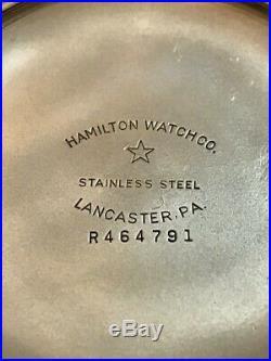 Stunning 1949 Hamilton 992B 21J 16S Railroad Grade S/Steel Case Pocket Watch