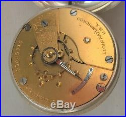 Super Elgin 18s Pocket Watch (1918) Coin Silver Case Serviced and in ExWO