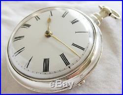 SuperB verge fusee Pocket watch silver pair case Jeremiah Johnson London 1810