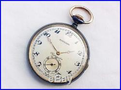 Swiss Gun metal Quarter Repeater Open Face Case Pocket Watch Great No. 194