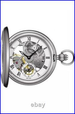 Tissot BridgePort Mechanical Skeleton Steel Case Pocket Watch T8594051927300