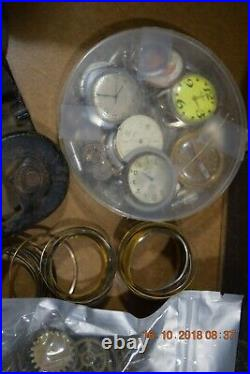 Tools-Parts-Pocket Watch Cases-Wrist watch cases and Movements-Syringes Etc