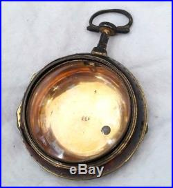 VERGE WATCH Georgian Shell Pair case. 1780s 1790s