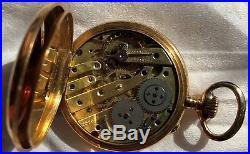 Vacheron Constantin Pocket Watch open face 18K solid gold case enamel dial