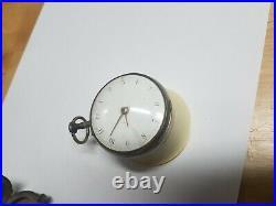 Verge Fusee John Rentnow (Wontner) London Sterling Silver Case Pocket Watch
