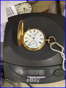 Very Fine & Heavy 18ct Gold English Freesprung Hunting Cased Pocket Watch