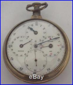 Very Rare Regulator Dial Moonphase+ Date& Doctors Pair Case Watch Verge Fusee