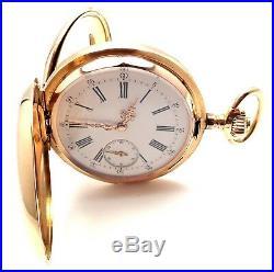 Vintage! 14k Gold Swiss Quarter Repeater 51mm Large Hunter Case Pocket Watch