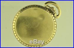Vintage 16 Size Waltham Swiss Incabloc Pocketwatch Nice Case! 25 Jewels