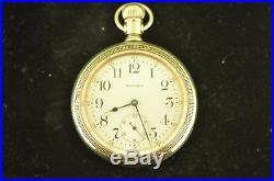 Vintage 18s Waltham 21j Pocket Watch Grade 845 Swing Out Display Back Case