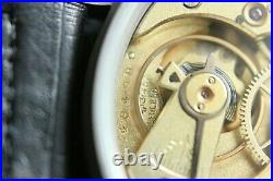 Vintage 1909`s IWC Pocket Swiss movement in New wrist Military Case PILOT A-DIAL