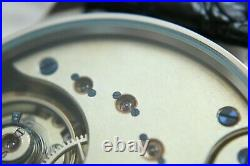Vintage 1910`s Omega Pocket Swiss movement and Enameled dial in New wrist Case