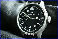 Vintage 1911`s IWC Pocket Swiss movement in New wrist Military Case PILOT A-DIAL