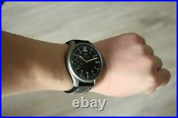 Vintage 1919`s IWC Pocket Swiss movement in New wrist Military Case PILOT A-DIAL