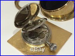 Vintage Brass Cased Doxa 8 Day Goliath Pocket Watch For Automobile Cockpit Dash