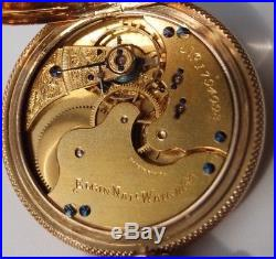 Vintage Elgin Pocket Watch EXTRA HEAVY 14K GOLD HUNTER CASE c. 1885 GRO