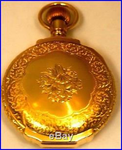 Vintage Fancy Elgin 14K Solid Yellow Gold 54mm Hunter Case Pocket-Watch 140grams