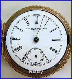 Vintage Gold Filled Pocket Watch Case -new York Standard