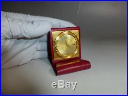 Vintage Jaeger Lecoultre Pocket Alarm Travel Pocket Watch / Clock & Leather Case