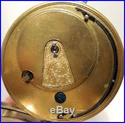 Vintage-Key Wind-Chester, England J. H. Silver Case-Fusee/Escapement-Pocket Watch