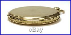 Vintage L. U. Chopard #3014 18K Gold Hunter Case Enamel Pocket Watch with Orig Box