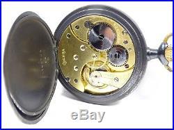 Vintage Omega 15 Jewel Manual Wind Pocket Watch + Gun Metal Case (Serviced)