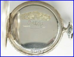 Vintage Omega Pocket Watch Silver Case